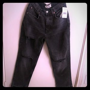 Free people high waist ripped jeans